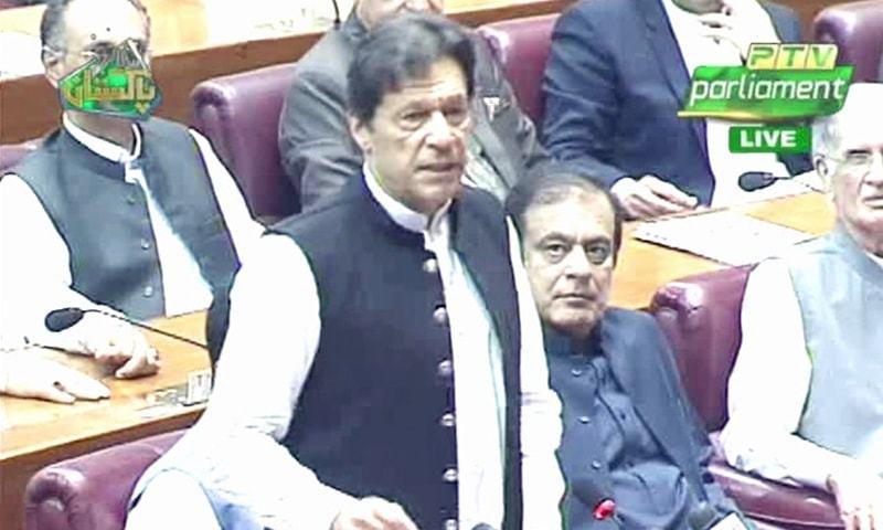 The prime minister Imran Khan Kashmir India speech