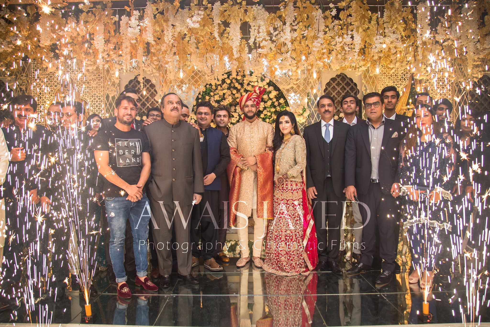 imad wasim valima wedding