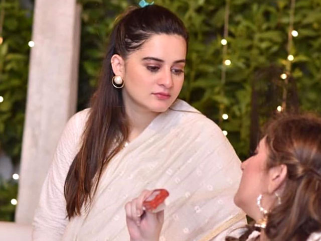 aiman khan baby shower bashed