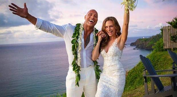the rock married