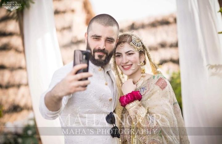 bride and groom wedding hamza naimal khawar