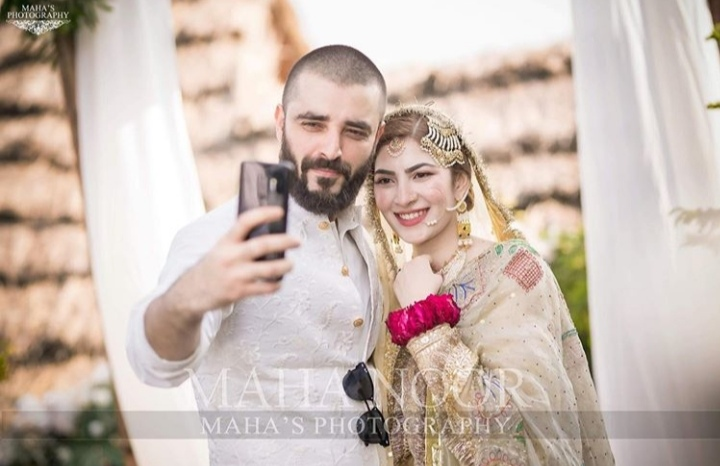 bride and groom wedding hamza naimal khawar