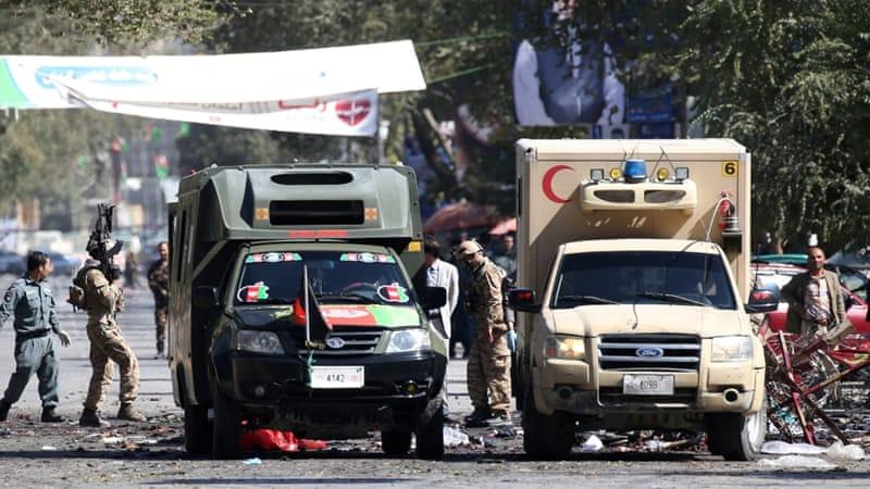 Afghans president rally blast