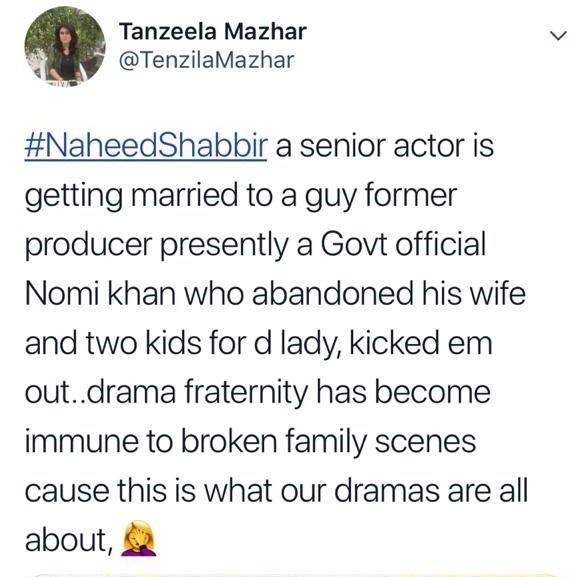 naheed shabir wedding faysal qureshi blamed