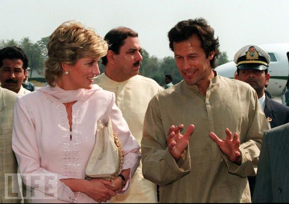 lady diana with PM khan pakistan