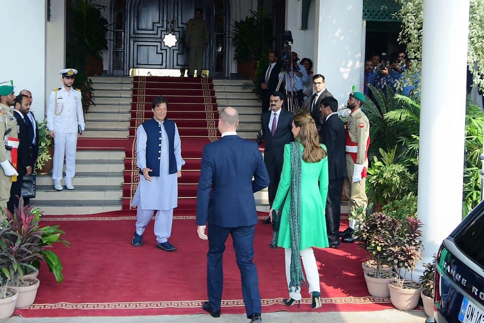 royal couple meet pm imran khan
