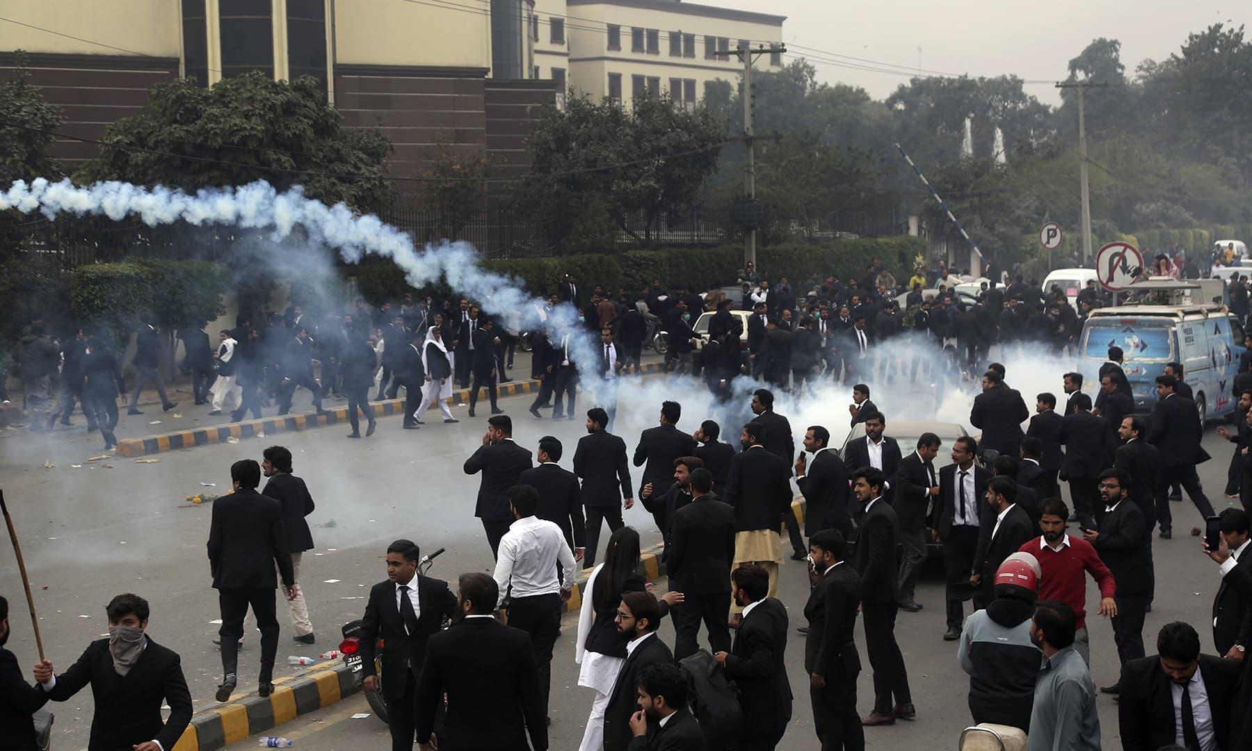 lawyers clash lahore