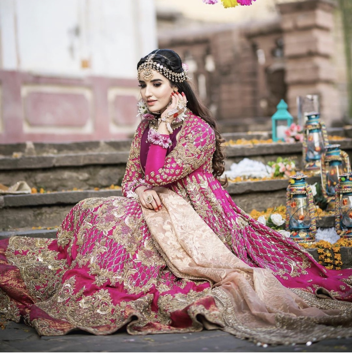 Hareem Farooq pakistani bridal dress
