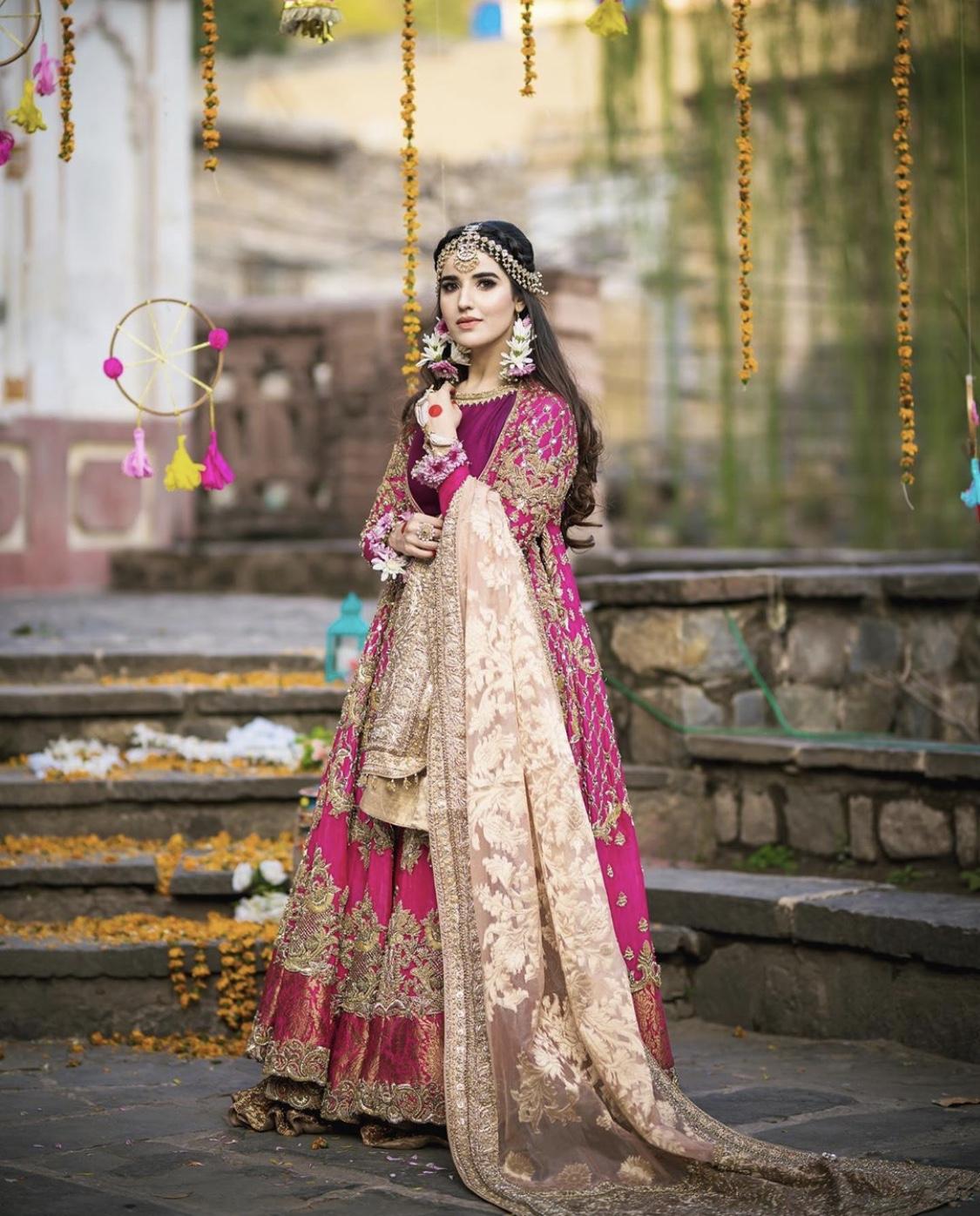 Hareem Farooq bridal picture
