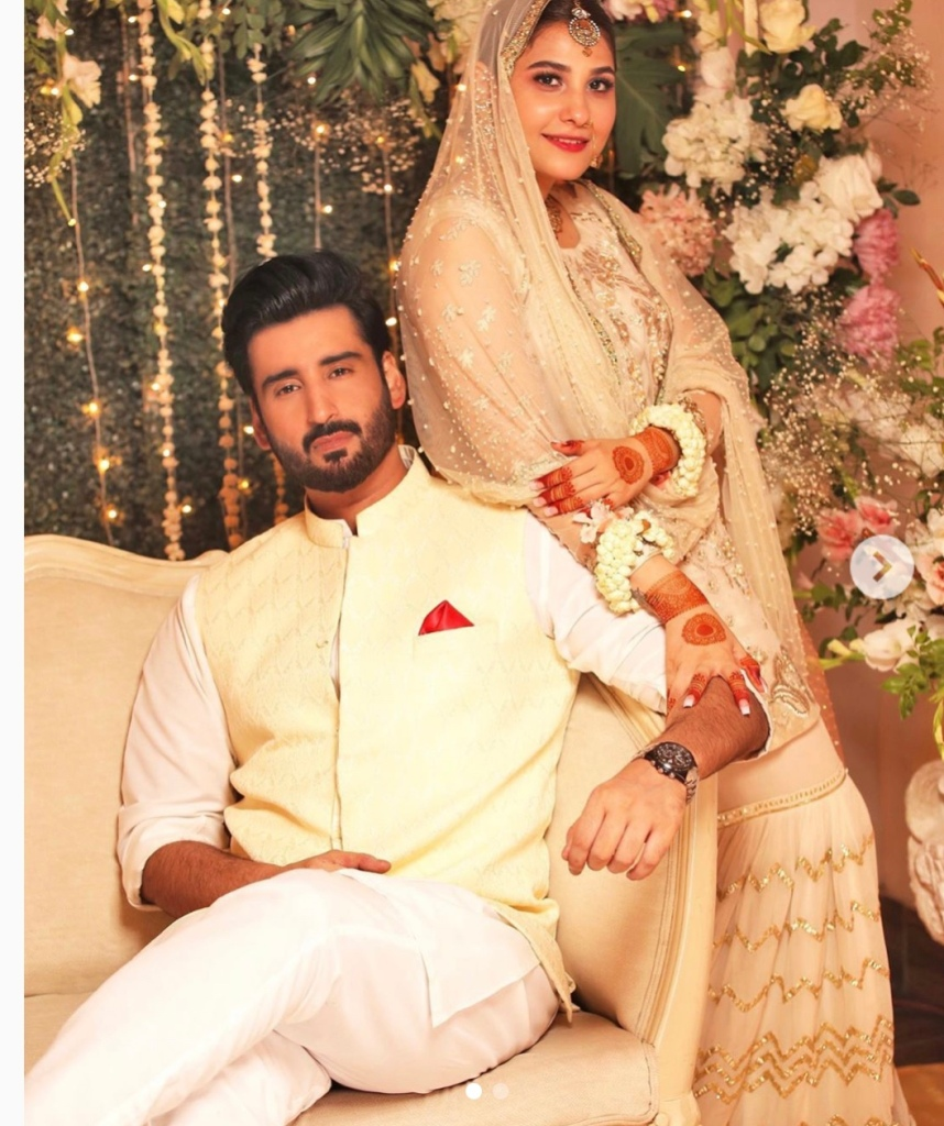 Hina Altaf and Aagha Ali tie the knot in private ceremony