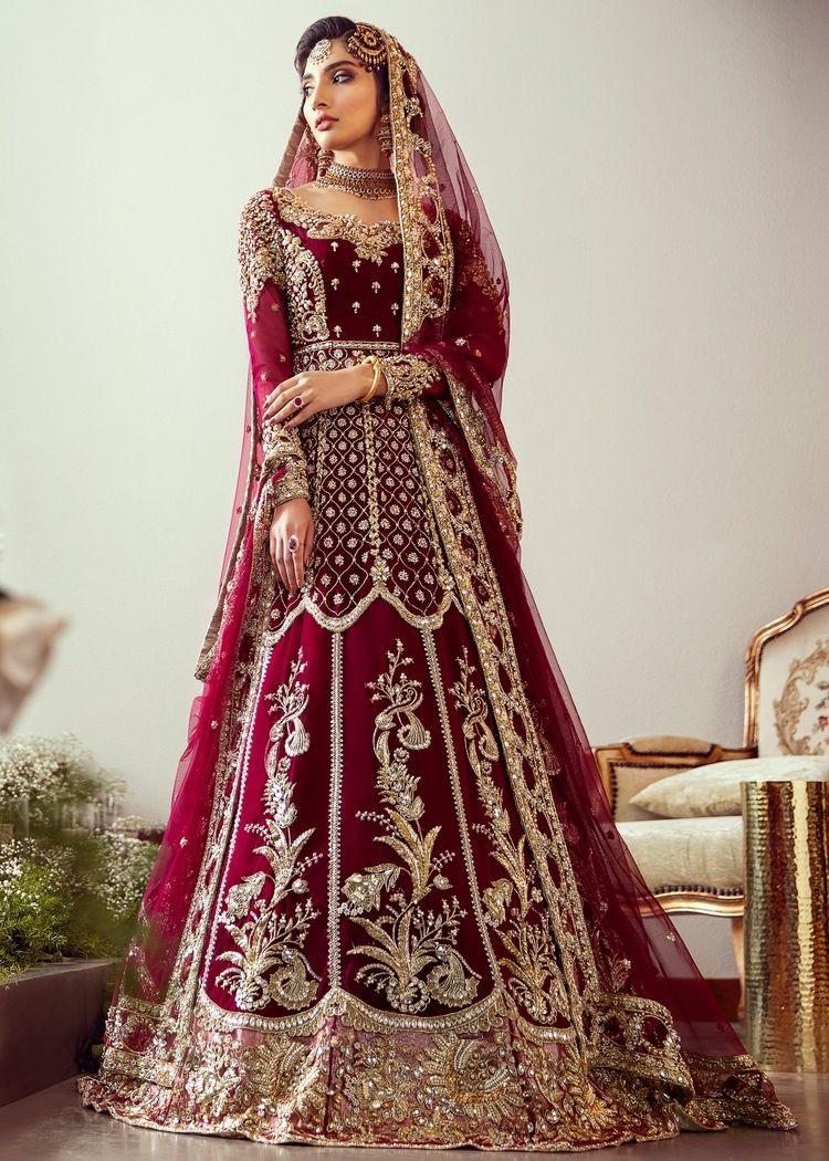 Pakistani Red bridal dress