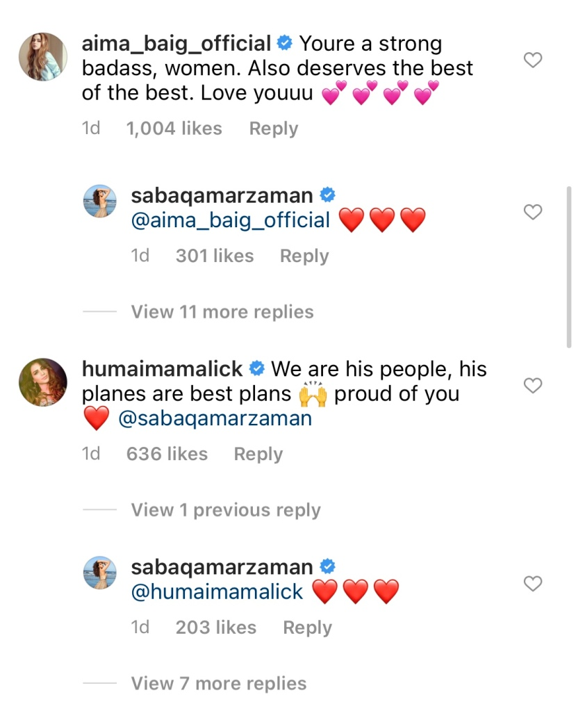 Saba Qamar called its Quite with Azeem Khan